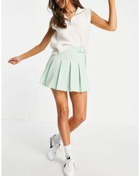 Pull&Bear Пастельно-зеленая Плиссированная Юбка В Теннисном Стиле -зеленый Цвет