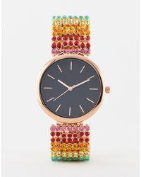 ASOS Часы С Ремешком Из Разноцветных Кристаллов - Многоцветный