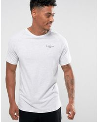 Illusive London - Poly T-shirt In Grey With Piping - Lyst