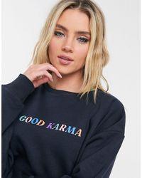 Chelsea Peers Good Karma Sweatshirt - Blue
