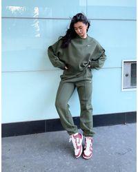 Nike Свободные Джоггеры Цвета Хаки С Маленьким Логотипом-галочкой -зеленый Цвет