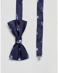 Jack & Jones - Bow Tie With Floral Print - Lyst