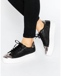 ASOS - Definitely Lace Up Trainers - Lyst