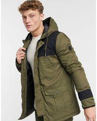 Native Youth Hooded Coat - Green