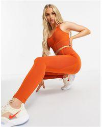 South Beach Бесшовные Леггинсы Рыжего Цвета С Контрастной Скульптурирующей Отделкой -коричневый Цвет - Оранжевый