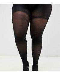 ASOS Curve - 60 Denier Panty Met Ondersteuning Rond De Buik En Op De Dij - Zwart