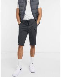 True Religion Shorts deportivos con logo - Gris