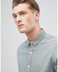 Only & Sons - Slim Fit Melange Cotton Shirt - Lyst