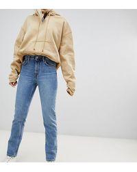Weekday – Seattle – Mom-Jeans aus Bio-Baumwolle - Blau
