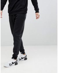 River Island Sweatpants With Camo Side Panel In Black
