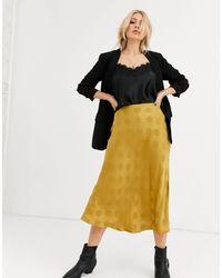 Capulet Lara Spot Jaquard Slip Skirt-gold - Metallic