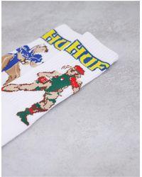 Huf X Street Fighter Ii Chun-li And Cammy Socks - White