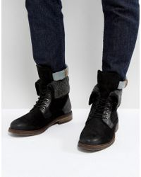 Steve Madden - Turntup Suede Warm Boots In Black - Lyst