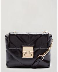 Miss Selfridge Quilted Bag - Black