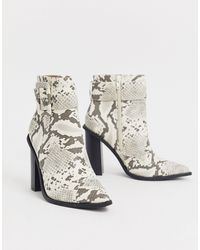 Missguided Ankle Boots With Buckle Detail - Multicolor