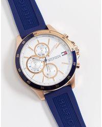 Tommy Hilfiger – Sunray 1791778 – Silikon-Armbanduhr - Blau