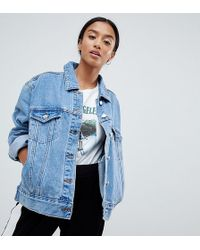 Missguided Oversized Denim Jacket In Blue