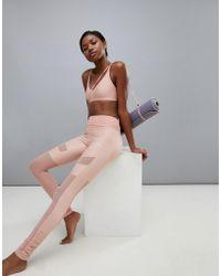 PUMA - Dance Mesh Insert Leggings In Pink - Lyst