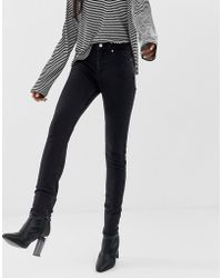Weekday - Thursday High Waist Skinny Jeans With Organic Cotton In Black - Lyst
