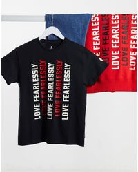 Converse Love Fearlessly Iwd T-shirt - Black