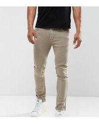 Just Junkies Skinny Jeans In Tan - Brown