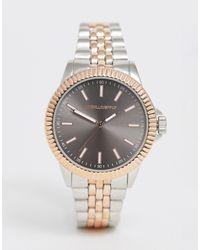 ASOS Серебристые Наручные Часы С Отделкой Цвета Розового Золота - Металлик