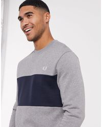 Fred Perry Sweat ras - Gris