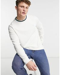 Fred Perry Tramline Tipped T-shirt - White