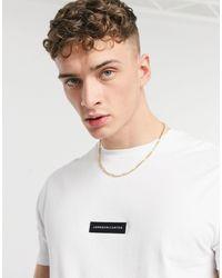 Jameson Carter Matt Leather Patch T-shirt - White