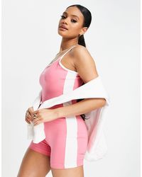 PUMA Розовый Облегающий Комбинезон Classic-розовый Цвет