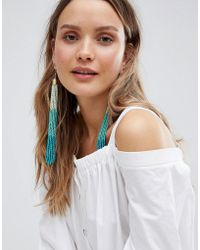 ASOS - Design Statement Ombre Bead Tassel Earrings - Lyst