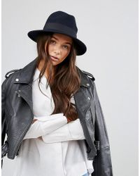 ONLY - Wool Fedora Hat - Lyst