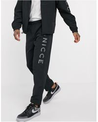 Nicce London Track Trousers - Black