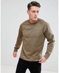 Abercrombie & Fitch | Sports Fleece Crew Neck Sweatshirt In Light Khaki | Lyst