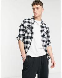 Criminal Damage Jack Check Shirt - White