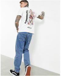 Criminal Damage T-shirt With Back Cherub Print - White