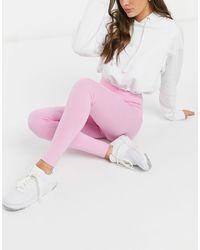 Monki Розовые Леггинсы Из Органического Хлопка С Завышенной Талией От Комплекта Ed-розовый