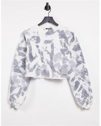 Missguided Co-ord Quilted Crop Sweatshirt - Multicolour
