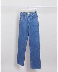 ASOS - Ruimvallende Jeans Met Hoge Taille - Lyst