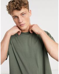 Brave Soul Roll Sleeve T-shirt - Green