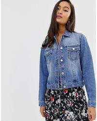 Miss Selfridge Crop Denim Jacket - Blue