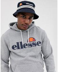 2ec11914a Ellesse Binno Reversible Camo Bucket Hat in Blue for Men - Lyst