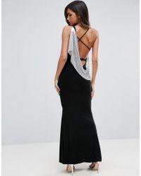 ASOS - Asos Chainmail Asymmetric Back Maxi Dress - Lyst