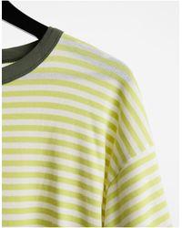 RVCA No Regard - T-Shirt oversize a righe gialle - Giallo