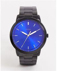 Fossil - Черные Наручные Часы В Минималистском Стиле Fs5693-черный - Lyst