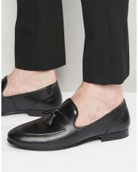 Red Tape - Tassel Loafers In Black Leather - Black - Lyst