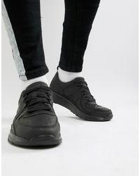 Camper Drift Leather Sneaker In Black