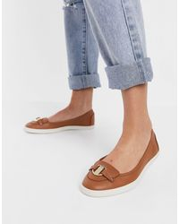 Fiorelli Irma Leather Loafers - Blue