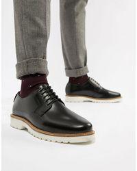 Ben Sherman Ботинки Из Глянцевой Кожи На Массивной Подошве Со Шнуровкой -черный