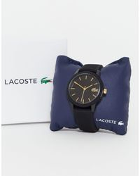 Lacoste Черные Часы С Силиконовым Ремешком 12.12-черный